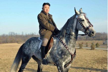 kim jong un caballo